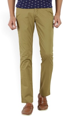 John Players Slim Fit Men Brown Trousers