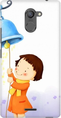 AMEZ Back Cover for Infinix Hot 4 Pro(Multicolor,Cute Child Winter Girl Playing Ringing Bell, Plastic)