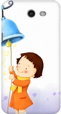 AMEZ Back Cover for Samsung Galaxy J7 (2017)(Multicolor,Cute Child Winter Girl Playing Ringing Bell, Plastic)