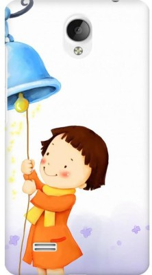 AMEZ Back Cover for VIVO Y21L(Multicolor,Cute Child Winter Girl Playing Ringing Bell, Plastic)