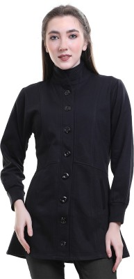 Sweekash Fleece Woollen Blend Solid Coat
