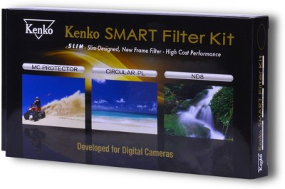 Kenko Smart Filter Kit - 82mm with MC Filter, ND8 Filter, CPL Filter with Cover Case Clear Filter(82 mm)