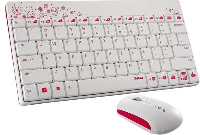 Rapoo 8000 Wired USB Multi device Keyboard Red, White