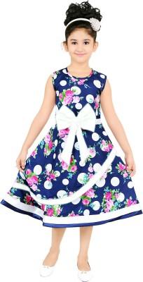 stylokids Girls Midi/Knee Length Party Dress(Multicolor, Sleeveless)