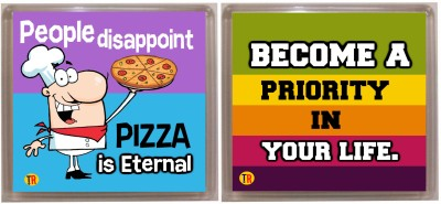 Thoughtroad PPL BCOME PRIORITY Fridge Magnet Pack of 2 Multicolor