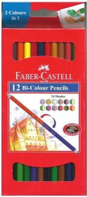 Faber-Castell 12 Bi-Colour Hexagonal Shaped Pencils(Set of 12, Multicolor)  available at flipkart for Rs.419