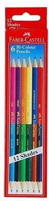 Faber-Castell Bi-Colour Hexagonal Shaped Pencils(Set of 5, Multicolor)  available at flipkart for Rs.350