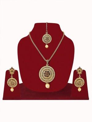 Fully Stone Jewel Set(Gold) Flipkart