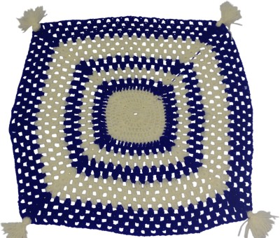 Haryana Craft Blue And White Square Design Kiroshiya knitted Thaal Posh/Thali Cover For Festive Needs And Pooja Wool Pooja & Thali Set(1 Pieces, Blue)  available at flipkart for Rs.176