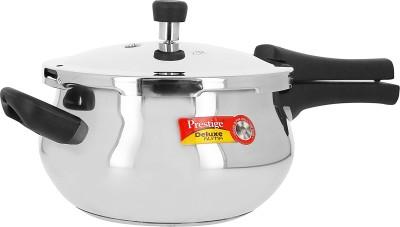 Prestige Deluxe Alpha Junior Handi 4.4 L Pressure Cooker with Induction Bottom(Stainless Steel)