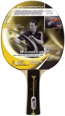 Donic Waldner 500 Red, Black Table Tennis Racquet(G4, 156 g)
