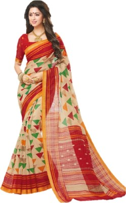 Nilesh Fab Printed Venkatagiri Silk Cotton Blend Saree(Multicolor)