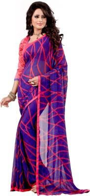 Arya Fashion Self Design Fashion Georgette Saree(Blue)