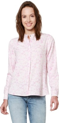 Allen Solly Women Printed Casual Pink Shirt