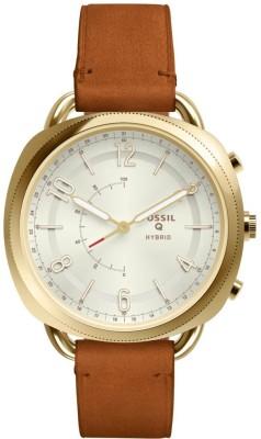 Fossil FTW1201 Q Hybrid Watch Smartwatch(Brown Strap Free Size)