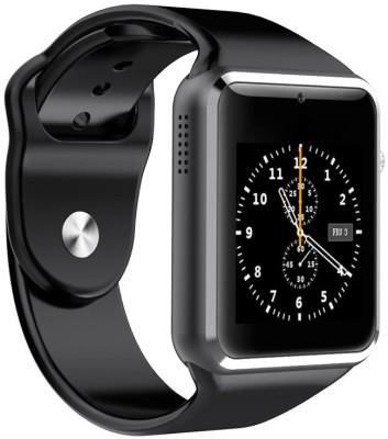 MOBILE LINK compatible Black Smartwatch(Black Strap Free Size)