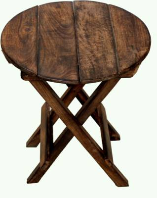 MartCrown Beautiful Round Stool  (Brown)