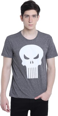 Punisher By Free Authority Graphic Print Men Round Neck Black T-Shirt