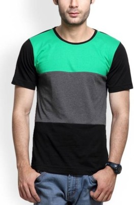 TryThis Color Block Men Round or Crew Multicolor T-Shirt