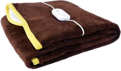 Cozyland Plain Single Electric Blanket Brown(Coral Blanket, 1)  available at flipkart for Rs.799