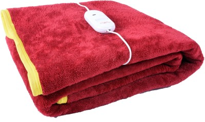 Cozyland Plain Single Electric Blanket Maroon(Coral Blanket, 1)  available at flipkart for Rs.799