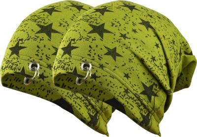 waymakers Printed, Graphic Print skull cap, winter cap, beanie cap, ring cap, printed cap, fashion cap, urban cap Cap(Pack of 2)
