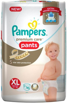 Pampers Premium Care Pants Diapers XL Diapers (16 Pieces)