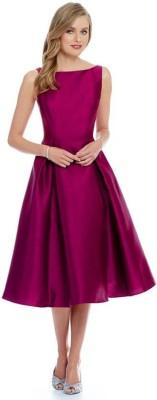 ak enterprise Women's Maxi Pink Dress