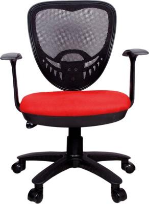 Rajpura Saphire2 Medium Back Revolving Chair with Push back Mechanism in Red...
