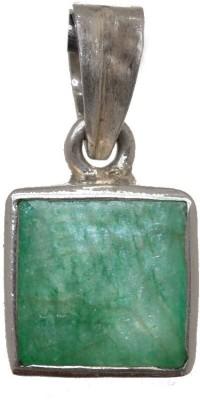 Petrichor Silver Square Pendant with Diamond shape Crystal Sterling Silver Sterling Silver Pendant