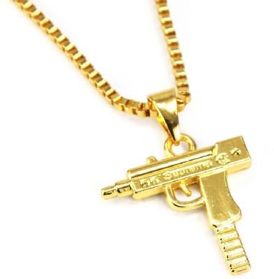 Rich & Famous Mens Jewellery Gun Fashion Alloy Pendant