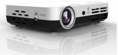 PLAY PP072 6000 lm DLP Corded Mobiles Portable Projector(White) at flipkart