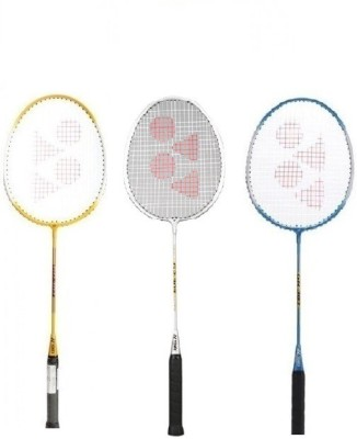 Yonex 'GR 303' Badminton Racket (Pack of 3) (Color On Availability) G3 Strung(Multicolor, Weight - 90 g)  available at flipkart for Rs.1684