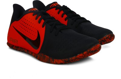 Nike AIR BEHOLD LOW Basketball Shoes For Men(Red, Black) 1