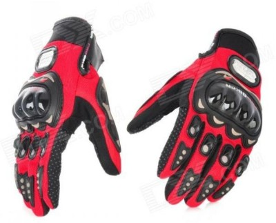 JMD Pro-biker Red Glove Riding Gloves (L, Red)  available at flipkart for Rs.399