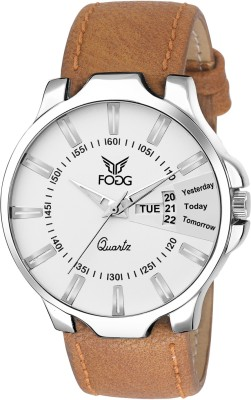Fogg 1125-BR Day And Date Analog Watch For Men