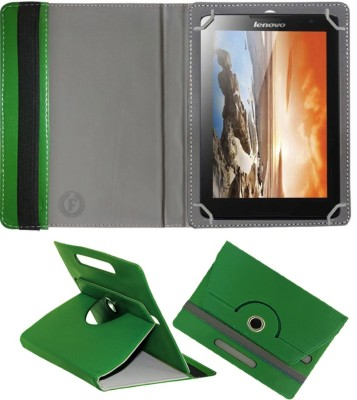 Fastway Book Cover for Lenovo A 8 -50 A 5500(Green, Cases with Holder)