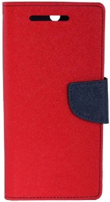 DRR Teleservices Flip Cover for Mercury Xiaomi Redmi Note(Pink, Blue, Artificial Leather)