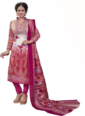 S P Marketing Cotton Polyester Blend Printed Salwar Suit Dupatta Material(Un-stitched)  available at flipkart for Rs.599