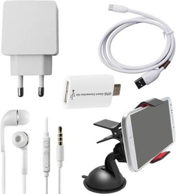 Poonam Enterprises Cable Accessory Combo for Asus Zenfone 2 Laser 3GB/32GB (ZE601KL)(Multicolor)