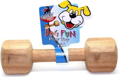 Goofy Tails Goofy Tails Wooden Dumbbell Dog Toy (Large) With Key Chain Bamboo Chew Toy For Dog  available at flipkart for Rs.250