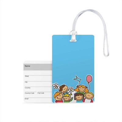 100yellow Luggage Tags- Printed High Quality Gloss Finish PVC Travel/Bag Tag with Silicon Strap- Ideal For Travel Luggage Tag(Multicolor)