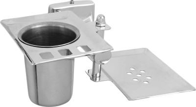 Mochen 100% Stainless Steel Soap Dish / Soap Stand Case / Soap Holder Dish for Bathroom(Silver)