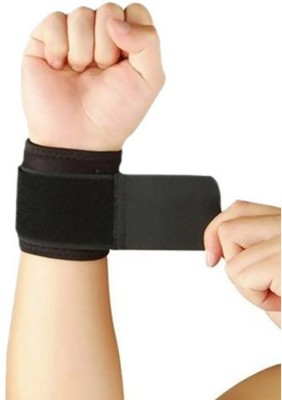 DreamPalace India GYM WRIST BAND Wrist Support (Free Size, Black)  available at flipkart for Rs.135