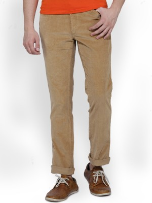 Ruggers Slim Fit Men's Brown Trousers