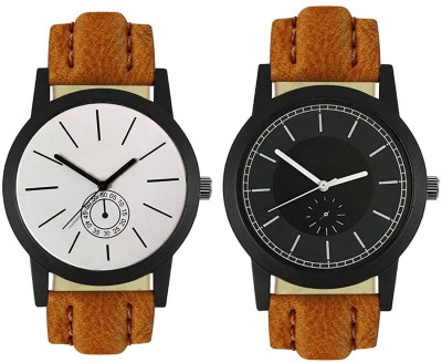 Naksh Fashion FOX-M-412-417 Designer Stylish Watch combo With Fancy Dial And Belt Watch  - For Men   Watches  (Naksh Fashion)