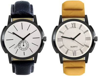 Naksh Fashion FOX-M-408-419 Designer Stylish Watch combo With Fancy Dial And Belt Watch  - For Men   Watches  (Naksh Fashion)