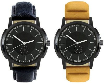 Naksh Fashion FOX-M-413-414 Designer Stylish Watch combo With Fancy Dial And Belt Watch  - For Men   Watches  (Naksh Fashion)
