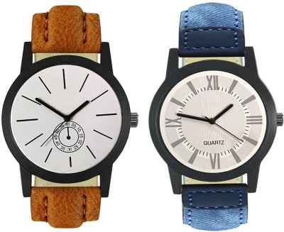 Naksh Fashion FOX-M-412-420 Designer Stylish Watch combo With Fancy Dial And Belt Watch  - For Men   Watches  (Naksh Fashion)