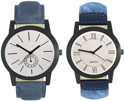 Naksh Fashion FOX-M-411-420 Designer Stylish Watch combo With Fancy Dial And Belt Watch  - For Men   Watches  (Naksh Fashion)